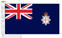 National Fire Service 1941 to 1948 Fire-Boat Ensign Courtesy Boat Flags (Roped and Toggled)